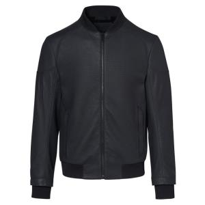Porsche Design Titan Structured Leather Bomber Bunda kožená strukturovaná