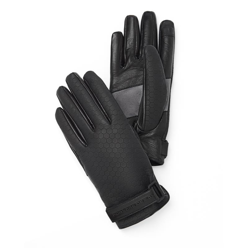 Porsche Design Structured Titan Gloves Rukavice kožené