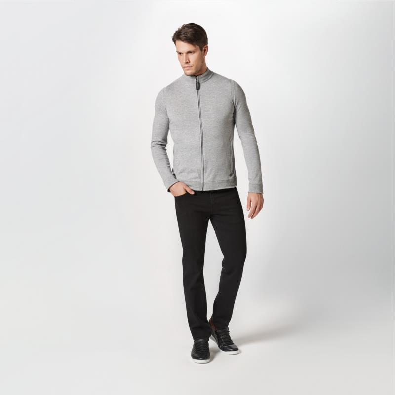 Porsche Design Perforated Collar Cardigan Svetr kardigan