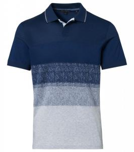 Porsche Design P 1120 M Hidden Placket Jacquard Polo Triko s límečkem denim