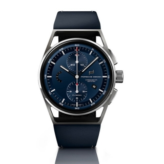 Porsche Design P 6023 1919 Chronotimer Flyback Blue & Leather