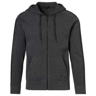 Porsche Design HOODED ICONIC JACKET Mikina tmavě šedá dark grey