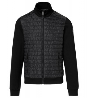 Porsche Design FABRIC MIXED CARDIGAN Bunda černá jet black